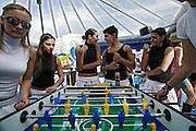 Italy, Florence, Fortezza da Basso, Fitfestival, tablesoccer tournament