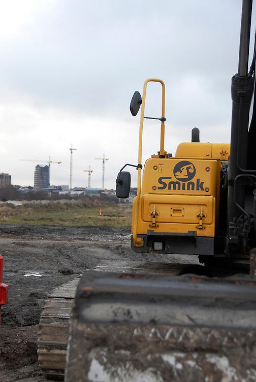 Amersfoort, 8 febr  2009.De nieuwbouwwijk Vathorst met stille bouwactiviteiten op zondag... Foto: (c) Renee Teunis