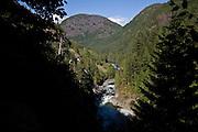 stream waterfall Gold River, Vancouver Island, British Columbia, Canada
