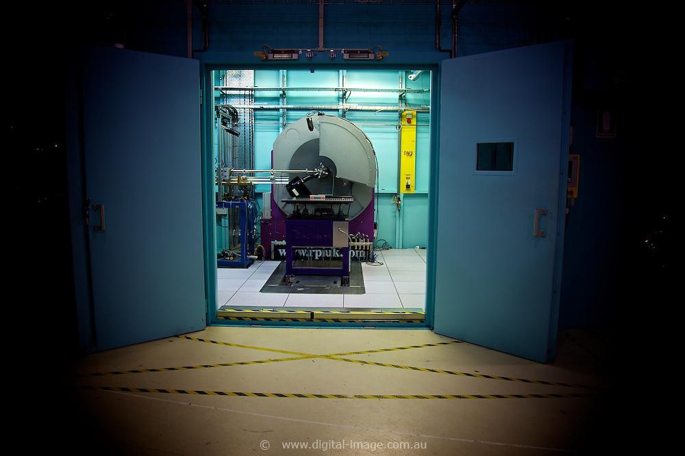 Powder Diffraction Beamline.   Powder Diffration Beamline door   Australian Synchrotron