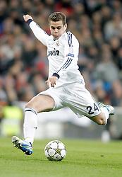 04-12-2012 VOETBAL: CL REAL MADRID - AFC AJAX AMSTERDAM: MADRID<br /> Jose Callejon celebrates<br /> ***NETHERLANDS ONLY***<br /> ©2012-FotoHoogendoorn.nl