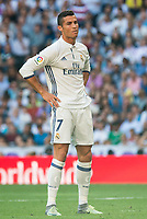 Real Madrid's player Cristiano Ronaldo during a match of La Liga Santander at Santiago Bernabeu Stadium in Madrid. October 02, Spain. 2016. (ALTERPHOTOS/BorjaB.Hojas)