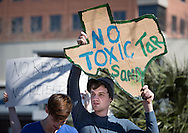 February 17th, 2013, Protesters against the  Keystone XL Pipeline gather in front of a Whole Foods store in Austin, Texas in solidarity with protesters in <br />  Washington DC where tens of thousands showed up for the largest climate change rally protest in the environmental movement's history.  A coalition of environmental groups took place in the actions including , the Sierra Club, 350.org, and the Tar Sands Blockade.
