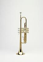 Brass Trumpet shot on White background.