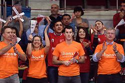 09-01-2016 TUR: European Olympic Qualification Tournament Rusland - Nederland, Ankara<br /> De Nederlandse volleybalsters hebben de finale van het olympisch kwalificatietoernooi tegen Rusland verloren. Oranje boog met 3-1 voor de Europees kampioen (25-21, 22-25, 25-19, 25-20) / Oranje publiek Sonja, Marcel