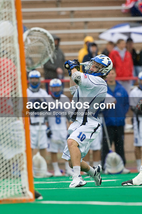 18 May 2008: Duke Blue Devils midfielder Brad Ross (10) during a 21-10 win over the Ohio State Buckeyes during the NCAA quarterfinals held at Cornell University in Ithaca, NY.