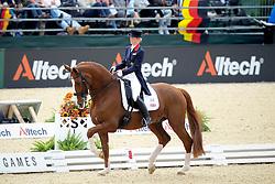 Laura Bechtolsheimer (GBR) - Mistral Hojris <br /> Alltech FEI World Equestrian Games <br /> Lexington - Kentucky 2010<br /> © Dirk Caremans