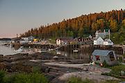 Dawn light in Stonington, Maine