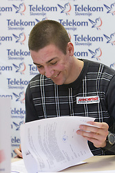 Sebastijan Jagarinec when Slovenian athletes and their coaches sign contracts with Athletic federation of Slovenia for year 2009,  in AZS, Ljubljana, Slovenia, on March 2, 2009. (Photo by Vid Ponikvar / Sportida)
