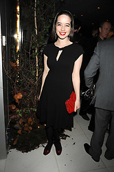 ANNA POPPLEWELL at a reception before the launch of the English National Ballet Christmas season launch of The Nutcracker held at the St,Martins Lane Hotel, London on 5th December 2008.