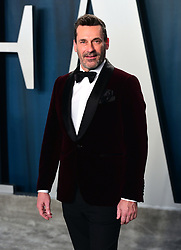 Jon Hamm attending the Vanity Fair Oscar Party held at the Wallis Annenberg Center for the Performing Arts in Beverly Hills, Los Angeles, California, USA.