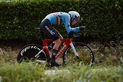 Julie De Wilde (BEL) at the 2020 UEC Road European Championships - Junior Women ITT, a 25.6 km individual time trial in Plouay, France on August 24, 2020. Photo by Sean Robinson/velofocus.com
