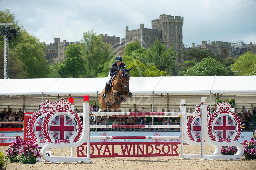 Jessica Mendoza (GBR) & Horst Van De Mispelaere - Manama Two Phase - CSI5* Jumping - Royal Windsor Horse Show - Home Park, Windsor, United Kingdom - 12 May 2017