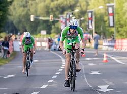 07.07.2019, Klagenfurt, AUT, Ironman Austria, Radfahren, im Bild Mark Bowstead (NZL) // Mark Bowstead (NZL) during the bike competition of the Ironman Austria in Klagenfurt, Austria on 2019/07/07. EXPA Pictures © 2019, PhotoCredit: EXPA/ Johann Groder