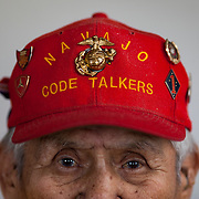 Chester Nez, the last living original Navajo Code Talker, Albuquerque, New Mexico