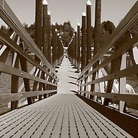 Sepia-toned version of the Olympia East Bay marina docks, Olympia, WA