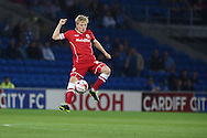 Mats Daehli  of Cardiff city controls the ball. Skybet football league championship match, Cardiff city v Middlesbrough at the Cardiff city stadium in Cardiff, South Wales on Tuesday 16th Sept 2014<br /> pic by Andrew Orchard, Andrew Orchard sports photography.