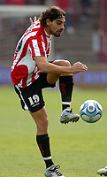 ESTUDIANTES de La Plata player LEANDRO LAZZARO during their Argentine First Division soccer match Vs. HURACAN in Buenos Aires June 01, 2008.<br /> © PikoPress
