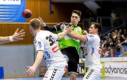 18.03.2018, BSFZ Suedstadt, Maria Enzersdorf, AUT, HLA, SG INSIGNIS Handball WESTWIEN vs HC FIVERS WAT Margareten, Bonus-Runde, 6. Runde, im Bild Mladan Jovanovic (SG INSIGNIS Handball WESTWIEN) // during Handball League Austria, Bonus-Runde, 6 th round match between SG INSIGNIS Handball WESTWIEN and HC FIVERS WAT Margareten at the BSFZ Suedstadt, Maria Enzersdorf, Austria on 2018/03/18, EXPA Pictures © 2018, PhotoCredit: EXPA/ Sebastian Pucher