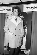 08/02/1966<br /> 02/08/1966<br /> 08 February 1966<br /> Fashion Show at I.C.I. Hawkins House, Dublin. Frank wearing a car coat by Valstar and slacks by Abbey.