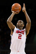 DALLAS, TX - NOVEMBER 25: Yanick Moreira #2 of the SMU Mustangs shoots a free-throw against the Arkansas Razorbacks on November 25, 2014 at Moody Coliseum in Dallas, Texas.  (Photo by Cooper Neill/Getty Images) *** Local Caption *** Yanick Moreira