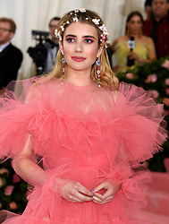 Emma Roberts attending the Metropolitan Museum of Art Costume Institute Benefit Gala 2019 in New York, USA.