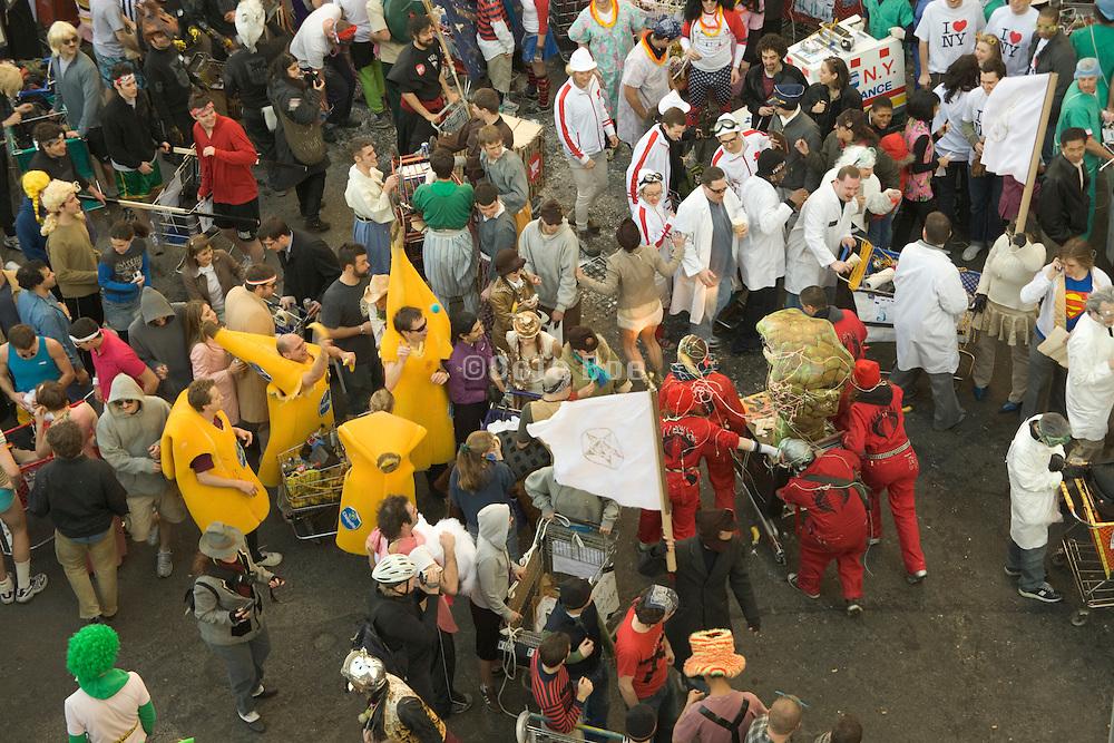 youth having fun at a carnivalesque parade