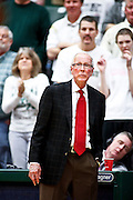 SHOT 1/28/12 4:13:45 PM - San Diego State University head basketball coach Steve Fisher coaches from the sidelines during their regular season Mountain West conference game against Colorado State at Moby Arena in Fort Collins, Co. Colorado State upset 12th ranked San Diego State 77-60. (Photo by Marc Piscotty / © 2012)