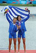 Eton Dorney, Windsor, Great Britain,..2012 London Olympic Regatta, Dorney Lake. Eton Rowing Centre, Berkshire.  Dorney Lake.  ..Women's Lightweight Doubles sculls,  GRE LW2X. Christina GIAZITZIDOU.   Alexandra TSIAVOU. ..12:39:21  Saturday  04/08/2012 [Mandatory Credit: Peter Spurrier/Intersport Images]