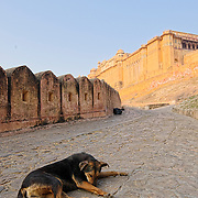 Amber fort at early morning before opening time