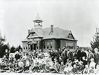 1889 Students in front of Lankershim School