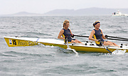 St Peter's Port, Guernsey, CHANNEL ISLANDS, Ladies Pair, Aberdyfi RC, Bow, Cath HARVARD and Stroke, Jane THOMPSON,  competing in the  2006 FISA Coastal Rowing  Challenge,  03/09/2006.  Photo  Peter Spurrier, © Intersport Images,  Tel +44 [0] 7973 819 551,  email images@intersport-images.com