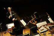 A concert by the Tokyo Sinfonia, one week after the Tohoku earthquake, Oji Hall, Tokyo, Japan, March 18, 2011.