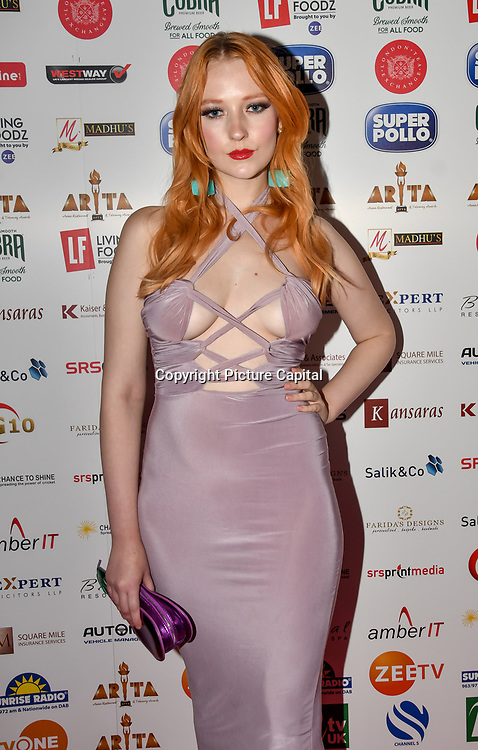 Victoria Clay attend at Asian Restaurant & Takeaway Awards | ARTA 2018 at InterContinental London - The O2, London, UK. 30 September 2018.