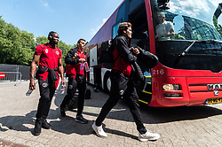(L-R) Calvin Mac-Intosch of Almere City FC, Damon Mirani of Almere City FC, Javier Vet of Almere City FC during the Dutch Jupiler League play-offs first final match between De Graafschap and Almere City FC at the Vijverberg on May 20, 2018 in Doetinchem, The Netherlands