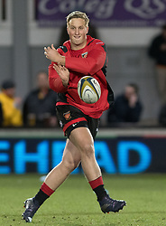 Dragons' Jarryd Sage during the pre match warm up.<br /> <br /> Photographer Simon Latham/Replay Images<br /> <br /> Anglo-Welsh Cup Round Round 4 - Dragons v Worcester Warriors - Friday 2nd February 2018 - Rodney Parade - Newport<br /> <br /> World Copyright © Replay Images . All rights reserved. info@replayimages.co.uk - http://replayimages.co.uk