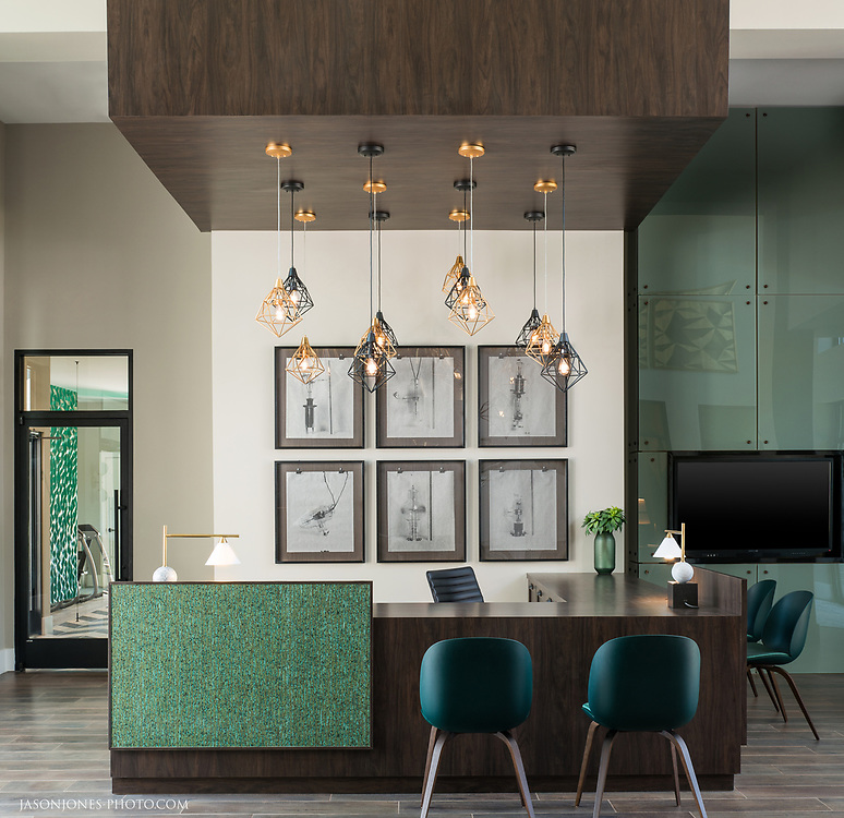 Apartment leasing office in a modern contemporary style