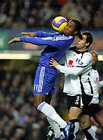 Didier Drogba<br />Chelsea 2006/07<br />Carlos Bocanegra Fulham<br />Chelsea V Fulham 30/12/06 at Stamford Bridge<br />The Premier League <br />Photo Robin Parker Fotosports International