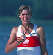Barcelona Olympic Games 1992<br /> Olympic Regatta - Lake Banyoles<br /> CAN W1X. Silken LAUMANN, with her Bronze Medal,  {Mandatory Credit: © Peter Spurrier/Intersport Images]