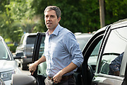 Democratic presidential hopeful Beto O'Rourke steps out of his van as he arrives to address supporters during a campaign stop at Gilligan's Restaurant April 13, 2019 in Summerville, South Carolina. During the event in the suburb of Charleston, Beto picked up the endorsement of South Carolina Rep. Marvin Pendarvis.