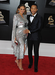 NEW YORK, NY - JANUARY 28: 60th Annual GRAMMY Awards at Madison Square Garden on January 28, 2018 in New York City. 28 Jan 2018 Pictured: Chrissy Teigen and John Legend. Photo credit: JP/MPI/Capital Pictures / MEGA TheMegaAgency.com +1 888 505 6342