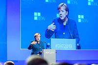 12 NOV 2019, BERLIN/GERMANY:<br /> Angela Merkel, CDU, Bundeskanzlerin, haelt eine Rede, Deutscher Arbeitgebertag 2019, Bundesverband Deutscher Arbeitgeber, BDA, Estrell Convention Center<br /> IMAGE: 20191112-01-180