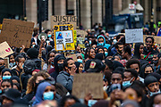 """People take part in a """"Justice for Shukri Abdi"""" protest on the first anniversary of her death, Saturday, June 27, 2020, in London.<br /> The 12-year-old schoolgirl of Somali heritage, who was born in a refugee camp in Kenya, drowned in the River Irwell in Bury, Greater Manchester on June 27, 2019. Greater Manchester Police said it was treating what happened as a """"tragic incident"""" and did not believe there were any suspicious circumstances. Campaigners and the mayor of Greater Manchester are pressing for a full investigation, an inquest was adjourned in February. (Photo/ Vudi Xhymshiti)"""