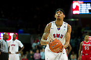 DALLAS, TX - JANUARY 21: Keith Frazier #4 of the SMU Mustangs shoots a free-throw against the Rutgers Scarlet Knights on January 21, 2014 at Moody Coliseum in Dallas, Texas.  (Photo by Cooper Neill/Getty Images) *** Local Caption *** Keith Frazier