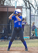 Middletown, New York - Middletown plays Warwick in a varsity girls' softball game on April 2, 2014.