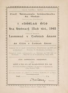 Munster Senior Hurling Championship - Final,.15071945MSHCF,.Limerick 02-06 v Tipperary 04-03, Minor Clare v Tipperary,.15.07.1945, 07.15.1945, 15th July 1945