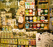 Olive oil souvenir products display, Rhodes, Greece
