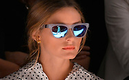 Olivia Palermo attend the Bibhu Mohapatra S/S 2014 fashion show at The Studio, Lincoln Center on September 11, 2013 in New York City.