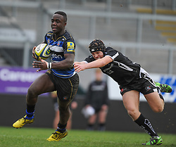 Bath's Jonny Keh scores his sides first try. - Mandatory byline: Alex Davidson/JMP - 07966386802 - 30/01/2016 - RUGBY - Sandy Park -Exeter,England - Exeter Chiefs u18's v Bath Rugby u18's - U18 League