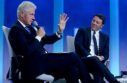 Bill Clinton and Italian PM Matteo Renzi at the annual meeting of the Clinton Global Initiative (CGI) in New York City, NY, USA, on Monday, September 19, 2016. The annual CGI meetings bring together heads of state, leading CEOs, philanthropists, and members of the media to facilitate discussion and forward-thinking initiatives that challenge the way we impact the future. Photo by Dennis van Tine/ABACAPRESS.COM